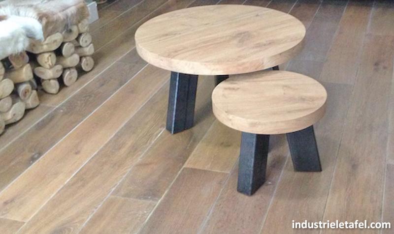 Industriele salontafel rond gallery of industriele ronde for Salon tafel rond