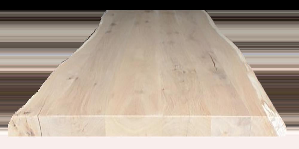 Eikenhouten Boomstam Tafelblad.Eikenhout Boomstam Blad Ruig Industriele Tafel